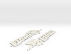 Fjord Boat Badge  in White Natural Versatile Plastic