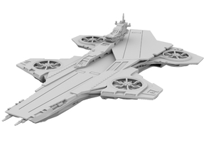 Hellicarrier [100mm + Solid] in Smooth Fine Detail Plastic