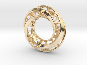 Mobius Ring Pendant v4 *Smaller* in 14K Yellow Gold