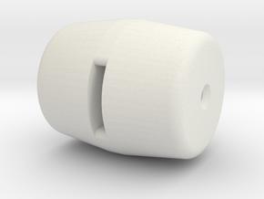 Knob 4 in White Natural Versatile Plastic
