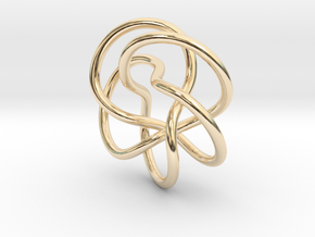 Tubular Torus Knot Pendant in 14K Yellow Gold