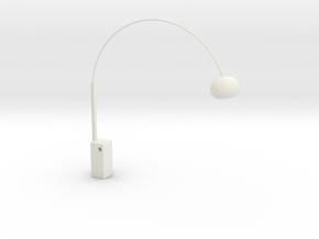 1:12 Arco Floor Lamp in White Natural Versatile Plastic