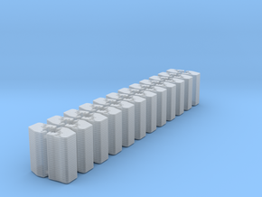 1/64 Front Weights 24 (24 Pieces) in Smooth Fine Detail Plastic