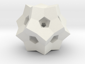 "0077 ""Dodecaplex"" Polytope 120-Cell #002 (5 cm) in White Natural Versatile Plastic"