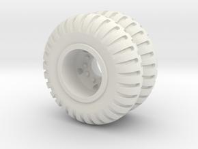 Maxi Carrier Wheel 6X in White Strong & Flexible