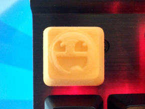 Awesome Face Cherry MX Keycap in Yellow Strong & Flexible Polished