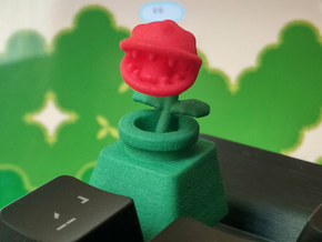 Piranha Plant Head Cherry MX Keycap in Red Processed Versatile Plastic