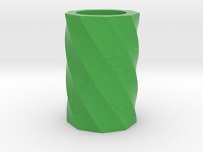 Twisted polygon vase in Full Color Sandstone