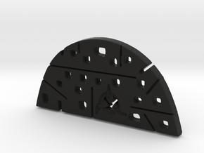 Split OVAL 2 Piece Pendant Top in Black Natural Versatile Plastic