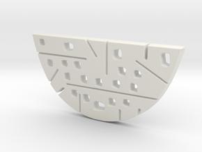Split OVAL 2 Piece Pendant Bottom in White Natural Versatile Plastic