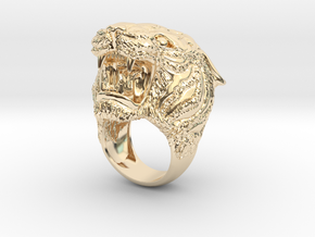 Tiger ring in 14K Yellow Gold