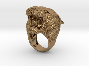 Tiger ring in Natural Brass