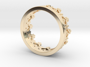 Crown ring in 14k Gold Plated Brass