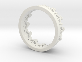 Crown ring in White Natural Versatile Plastic