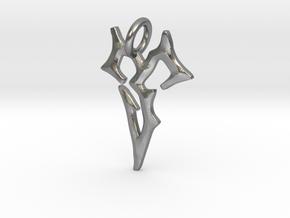 Final Fantasy Zanarkand Abes necklace 2cm symbol  in Natural Silver
