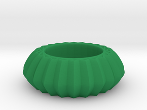 Striped bangle in Green Processed Versatile Plastic