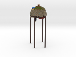 Minecraft world sphere #1 tiny pixels in Full Color Sandstone