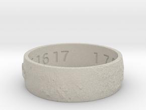 Moon Ring V3 Size 11.5 Ring Size 11.5 in Natural Sandstone