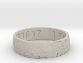 Moon Ring V3 RS11.5 Ring Size 11.5 in Natural Sandstone