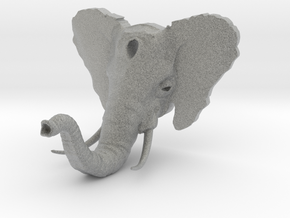 Elephant Hook v2 (w/ Tusks) in Metallic Plastic