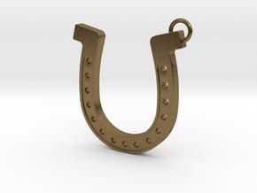 Horseshoe pendant in Natural Bronze