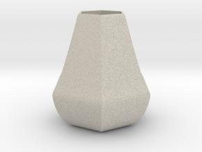 Bulky honeycomb vase in Natural Sandstone