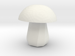 Mushroom Micro in White Natural Versatile Plastic