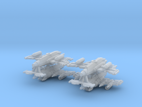 6mm Greenskin Fighter Bombers (x4) in Smooth Fine Detail Plastic