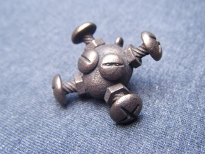 Bolts & Screws - Jolly Roger Trinket in Polished Bronzed Silver Steel