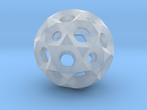 Sphere with holes in Smooth Fine Detail Plastic