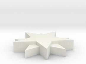Empress Elisabeth Diamond Stars Base in White Natural Versatile Plastic