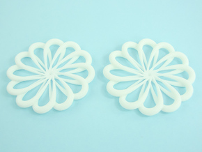 Flowerish 7 Big Hoop Earrings 55mm in White Strong & Flexible