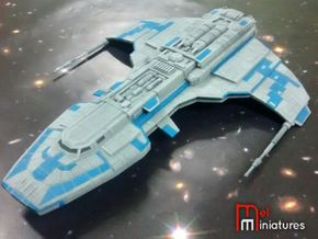 Marauder Corvette 1/510 + 2 Large Stands in White Strong & Flexible