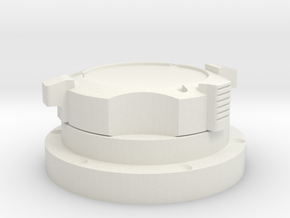Apollo Scaled GasConnector (Left) for Revell Man o in White Natural Versatile Plastic