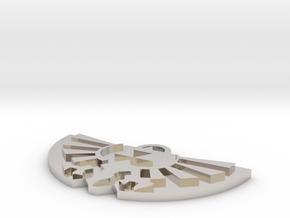 Zelda Logo Pendant in Rhodium Plated Brass