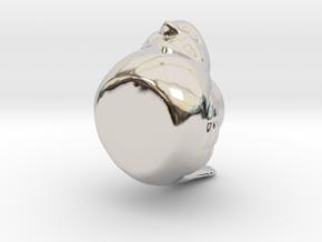 17866 in Rhodium Plated Brass