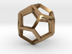 3D Honeycomb  in Natural Brass