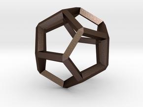 3D Honeycomb  in Matte Bronze Steel