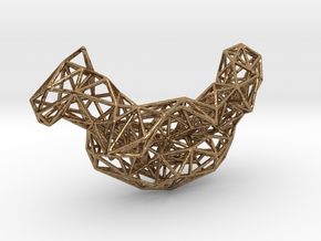 Mesh Necklace no.4 in Natural Brass
