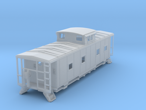 ACL M5 Caboose, split window, no roof walks - TT in Frosted Ultra Detail