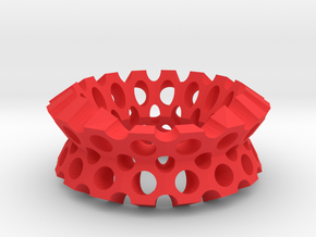 Round holes bracelet in Red Processed Versatile Plastic