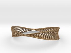 DNA Bracelet 3 in Natural Brass: Medium