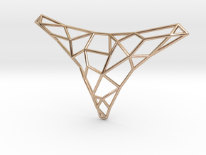 Polygon necklace in 14k Rose Gold Plated Brass