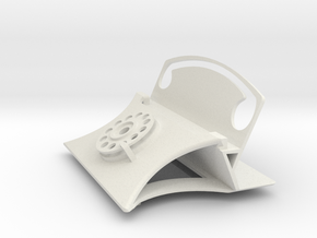 Rotary Dial Phone Business Card Holder in White Natural Versatile Plastic