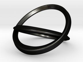 Bottle Opening Ring - Sz9 in Matte Black Steel