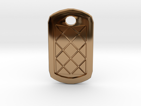 Tag Me Pendant in Polished Brass