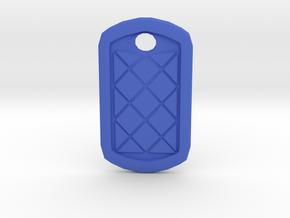 Tag Me Pendant in Blue Processed Versatile Plastic