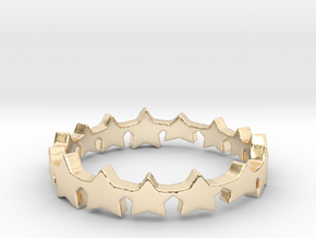 The Stars Shine Brighter   Size 8 in 14k Gold Plated Brass