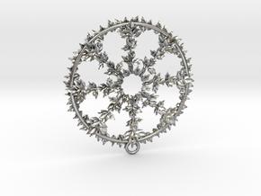 Hub Cap Leafy Wheel in Natural Silver