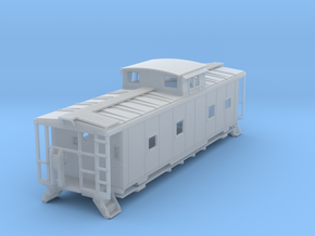 ACL M5 Caboose, split window - TT in Smooth Fine Detail Plastic